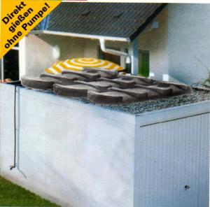 regenwassertank f r garagendach. Black Bedroom Furniture Sets. Home Design Ideas